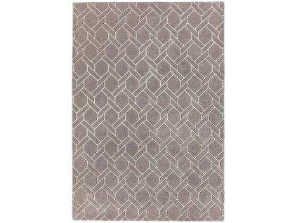 Luxusní moderní kusový koberec Rapun Fine Lines Grey Silver