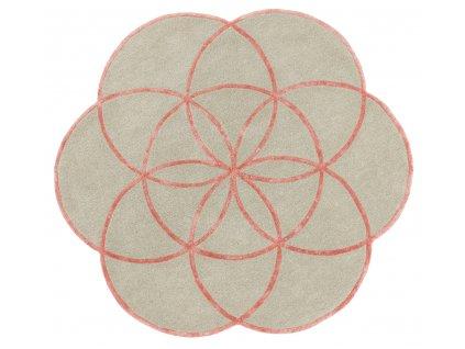 Kusový kruhový koberec Residents Pink