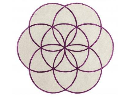 Kusový kruhový koberec Residents Purple