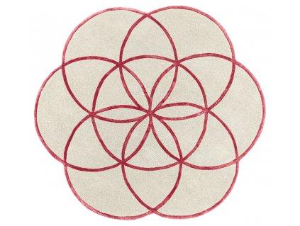 Kusový kruhový koberec Residents Red