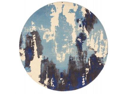 Kusový kruhový koberec Lykke Blue