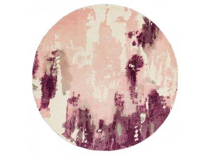 Kusový kruhový koberec Lykke Pink