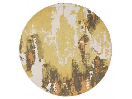 Kusový kruhový koberec Lykke Yellow (Rozměry 200x200 cm)