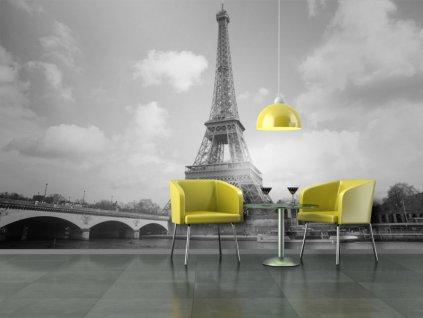 Eiffelova věž černobílá tapeta
