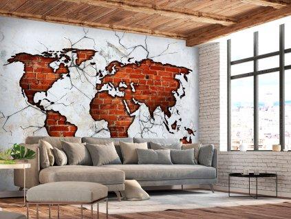 Tapeta Cihlová mapa