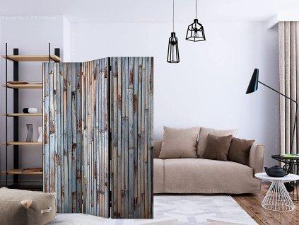 Paraván Šedé dřevo