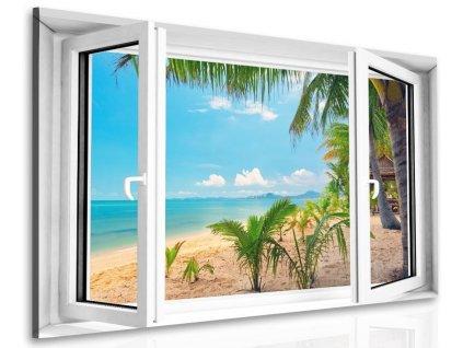 Obraz Okno do tropické pláže