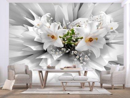 3D tapeta lilie