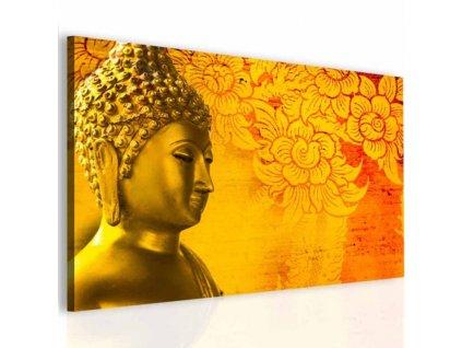 Obraz Buddha ve zlaté (Velikost (šířka x výška) 150x100 cm)