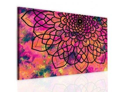 Obraz mandala barevná koláž (Velikost (šířka x výška) 150x100 cm)