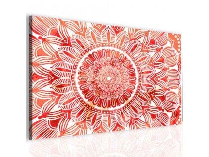 Obraz mandala červené slunce (Velikost (šířka x výška) 120x80 cm)