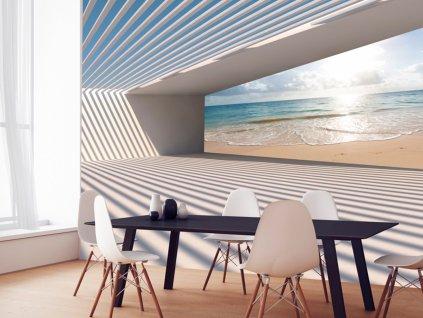 3D tapeta - Cesta k pláži (Rozměry (š x v) a Typ 147x105 cm - samolepící)