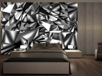 3D tapeta - Metalická harmonie (Rozměry (š x v) a Typ 147x105 cm - samolepící)