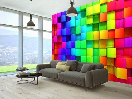 3D tapeta - v rytmu barev (Rozměry (š x v) a Typ 147x105 cm - samolepící)
