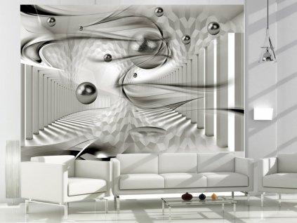 3D tapeta - Vířivá geometrie (Rozměry (š x v) a Typ 147x105 cm - samolepící)