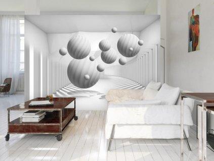 3D tapeta Bílé objekty (Rozměry (š x v) a Typ 147x105 cm - samolepící)