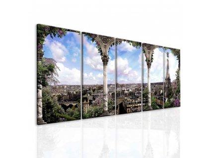 Obraz romantická Paříž (Velikost 120x60 cm)