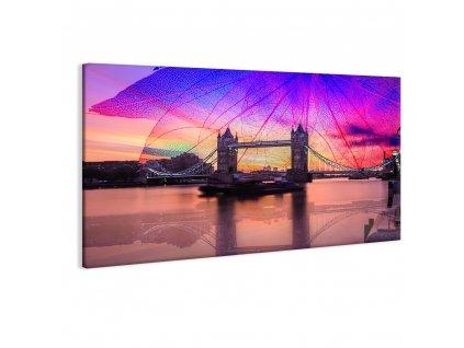 Obraz zapadající Londýn (Velikost 90x60 cm)