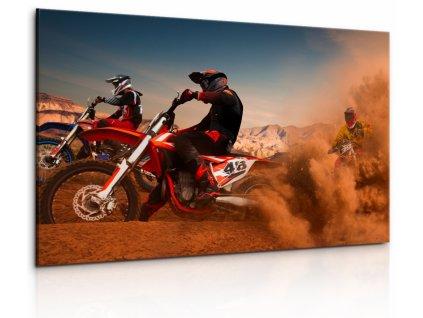 Obraz Zběsilé motorky (Velikost 120x80 cm)