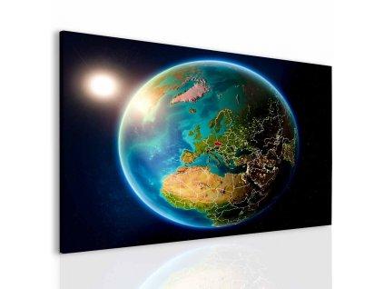 Obraz zeměkoule (Velikost 120x80 cm)