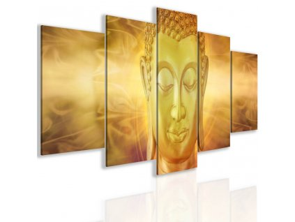 Obraz zlatý Buddha (Velikost 150x75 cm)