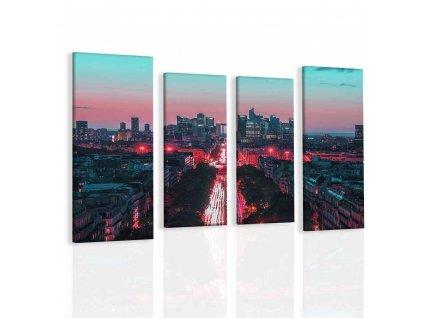 Obraz život města (Velikost 160x80 cm)