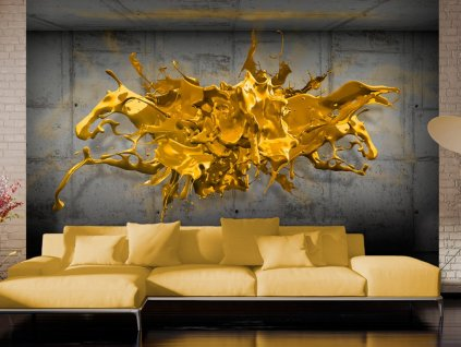 3D tapeta zlatá (Rozměry (š x v) a Typ 147x105 cm - samolepící)