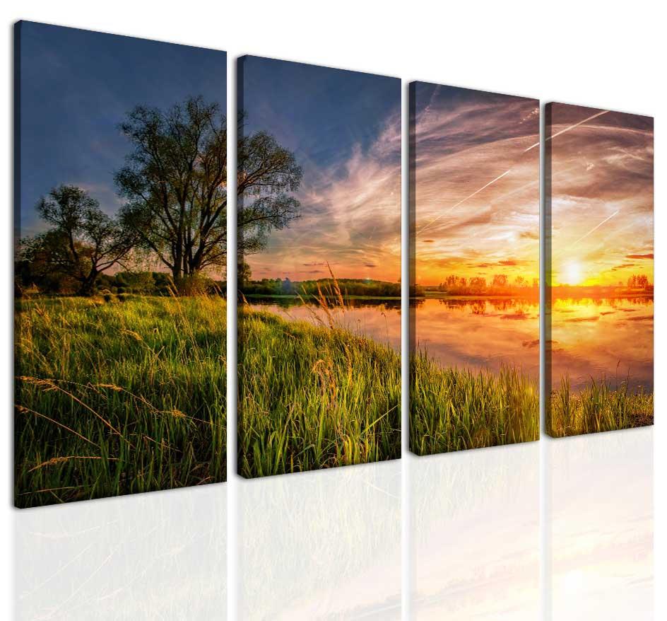 Letní západ slunce Velikost: 120x70 cm