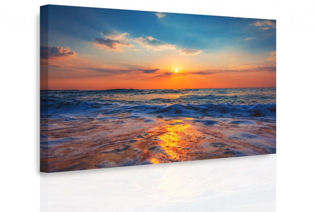 Obraz - Západ slunce nad mořem Velikost: 60x40 cm