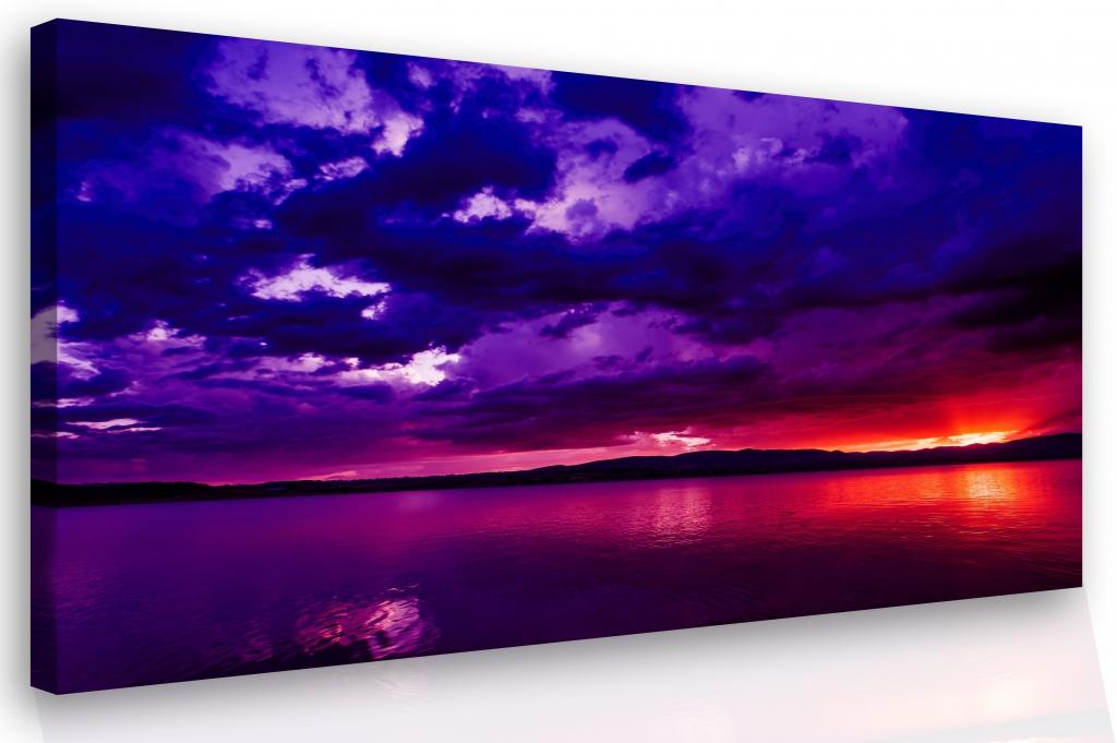 Obraz na plátně - západ slunce Velikost: 60x40 cm