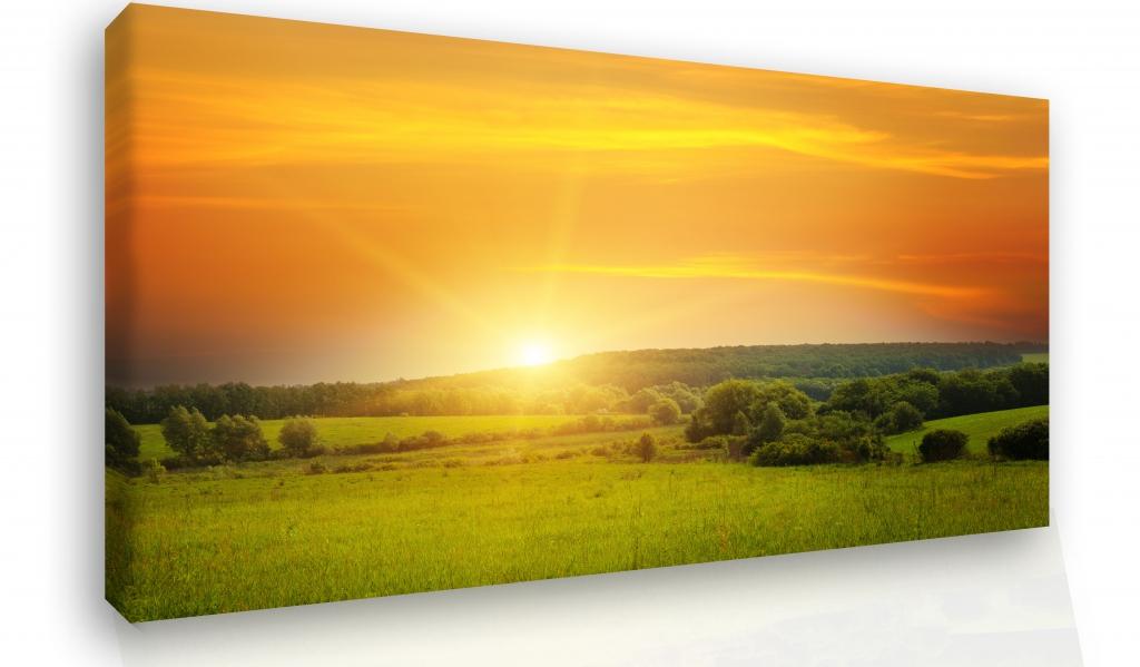 Obraz na stěnu - západ slunce v krajině Velikost: 60x40 cm