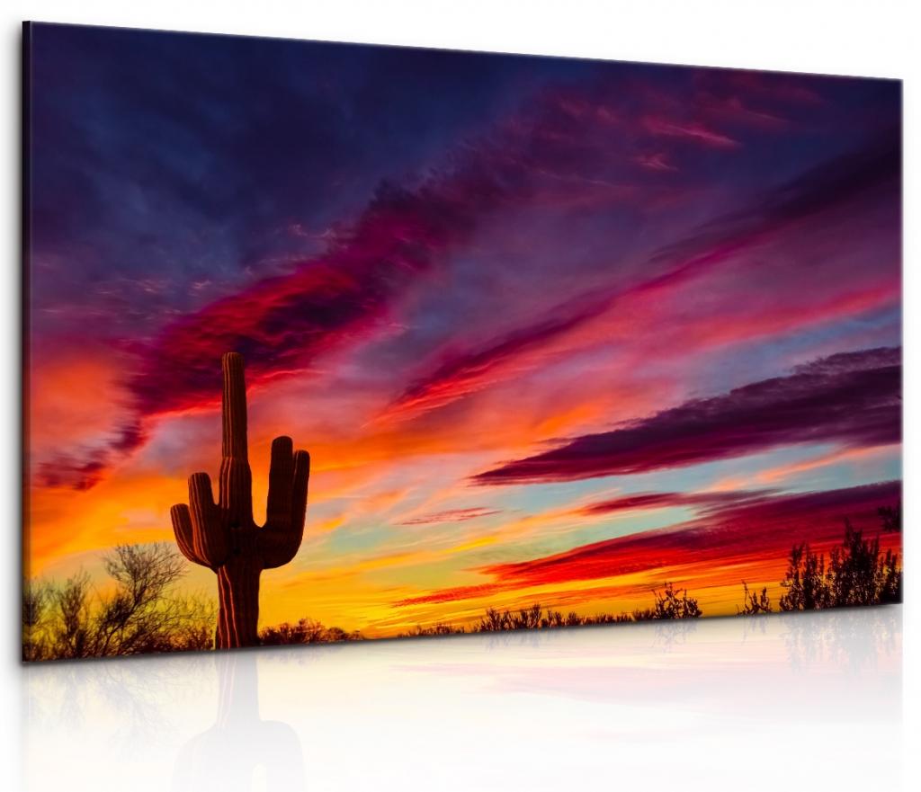 Obraz Západ slunce v poušti Velikost: 90x60 cm