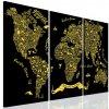 Obraz typografická mapa světa (Velikost 90x60 cm)
