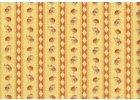 Růžičky v pruzích na žluté