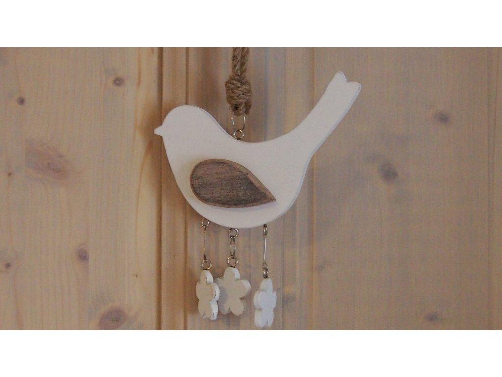 Ptáček bílý na zavěšení
