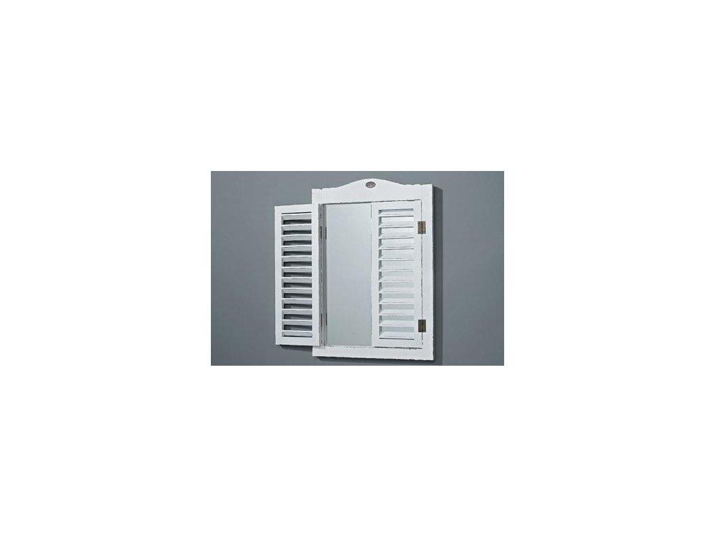 Zrcadlo bílé s okenicí tip 2