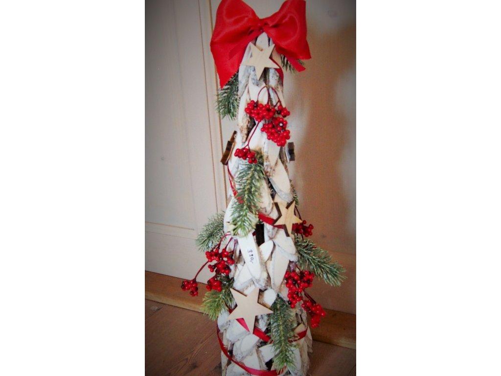 Bílý stromeček s mašlí