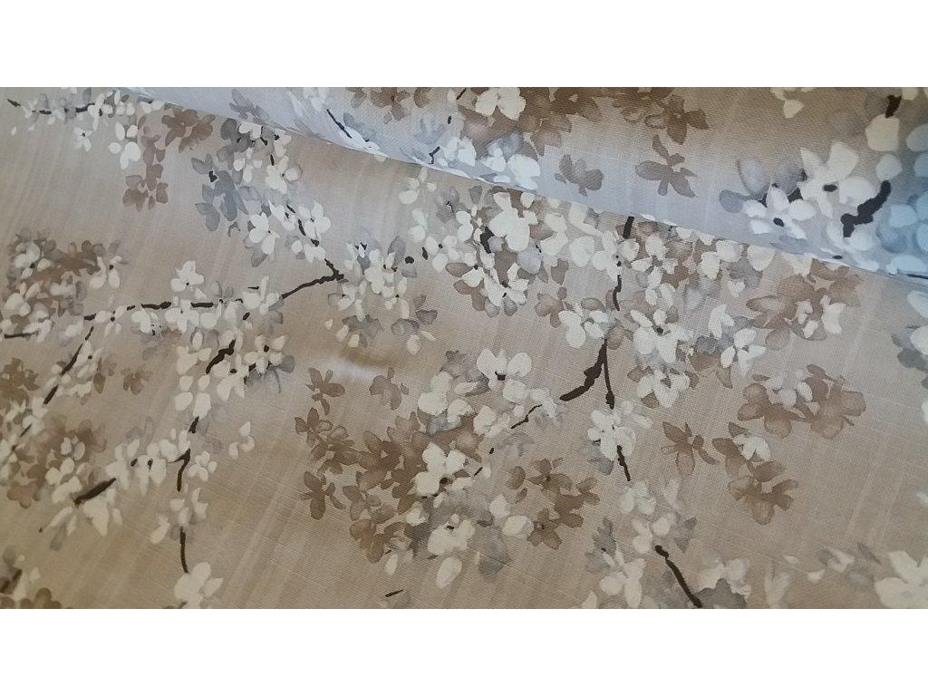 Sakura na šedobéžové