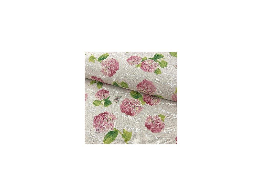 dekoracni latka linenlook hortenzie pink 1553852885 cz 13618