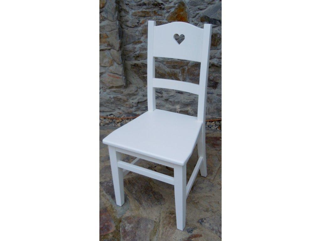 Židle se srdíčkem