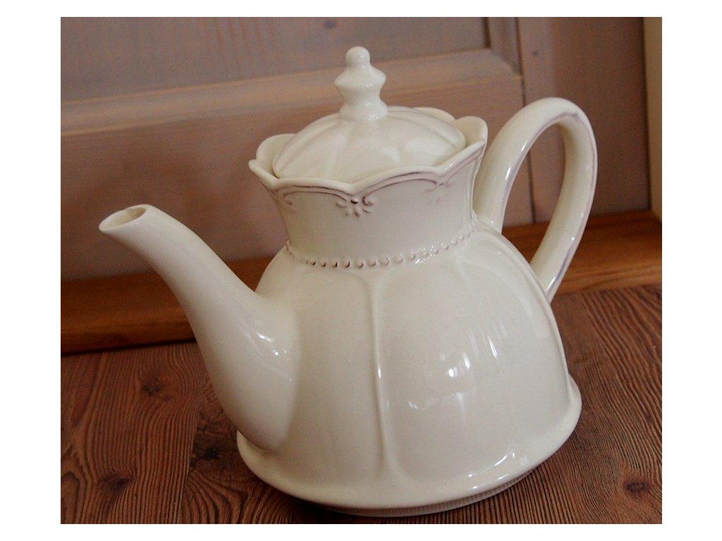 Krémová čajová konývka