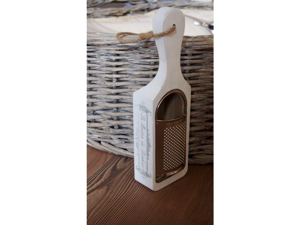 Dřevěné struhadlo bílé