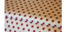 Bordó hvězdičky na bílé
