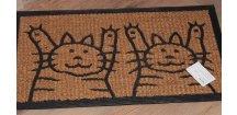 Kokosová rohožka s kočičáky