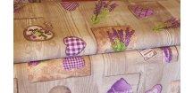 Levandulové motivy na dřevě