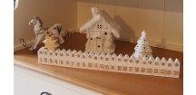 Adventní domečky bílé