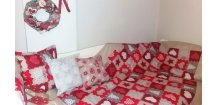 Přehoz vánoční patchwork