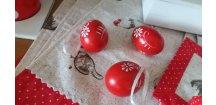Vajíčka červeno-bílá