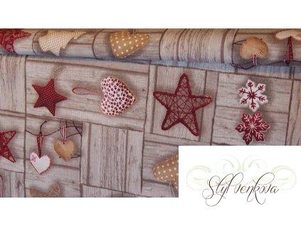 Vánoční ozdoby na dřevě