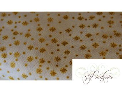Zlaté hvězdičky na bílé